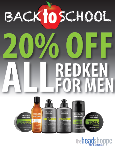 Save 20% on ALL Redken for Men products!