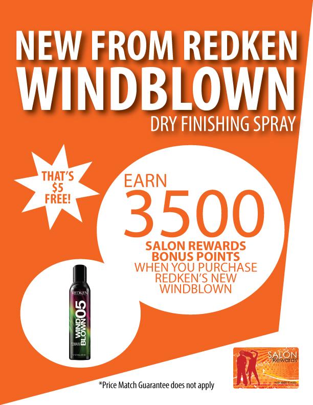 Earn 3500 Salon Rewards Bonus Points with Redken Windblown!