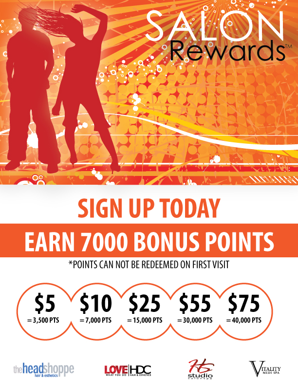 Earn 7000 Salon Rewards Bonus Points
