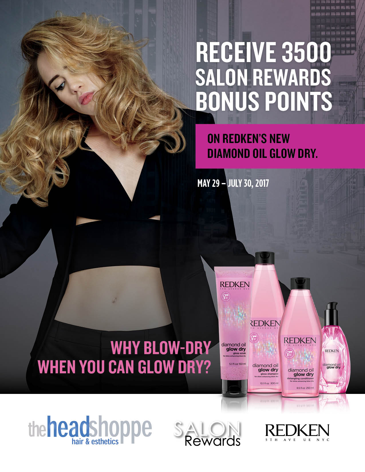 Earn 3500 Salon Rewards Bonus Points with NEW Glow Dry