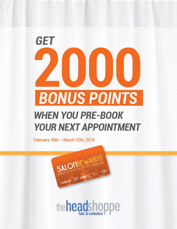 2000 Salon Rewards Pre-Book