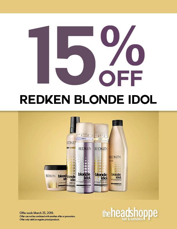 15% Off Redken Blonde Idol