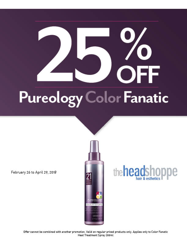 25% Off Pureology Color Fanatic