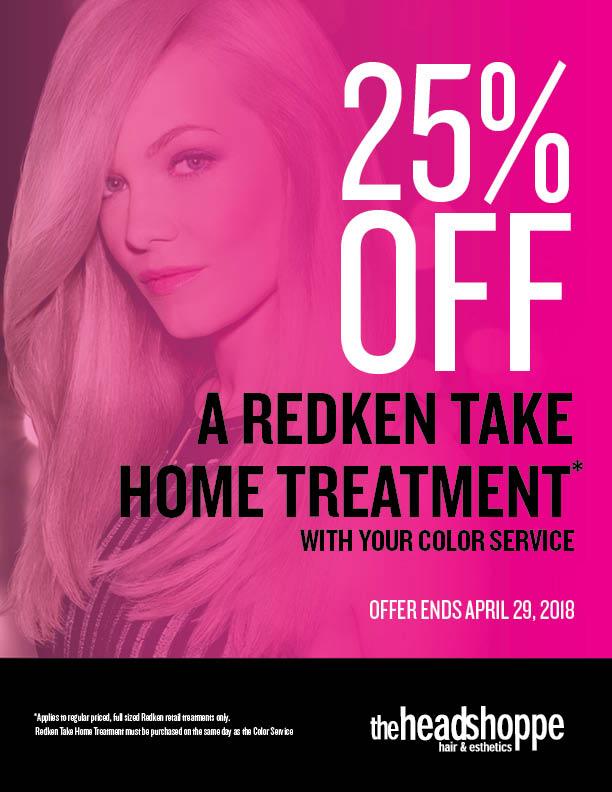 25% Off Redken Take Home Treatment