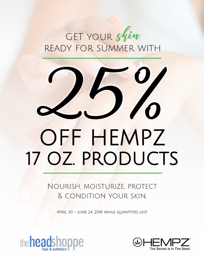 25% off Hempz 17.oz