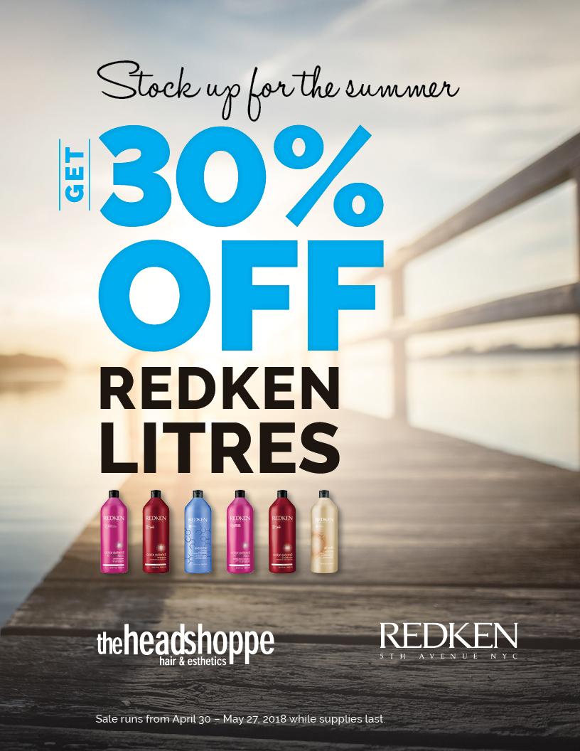 30% Off Redken Litres
