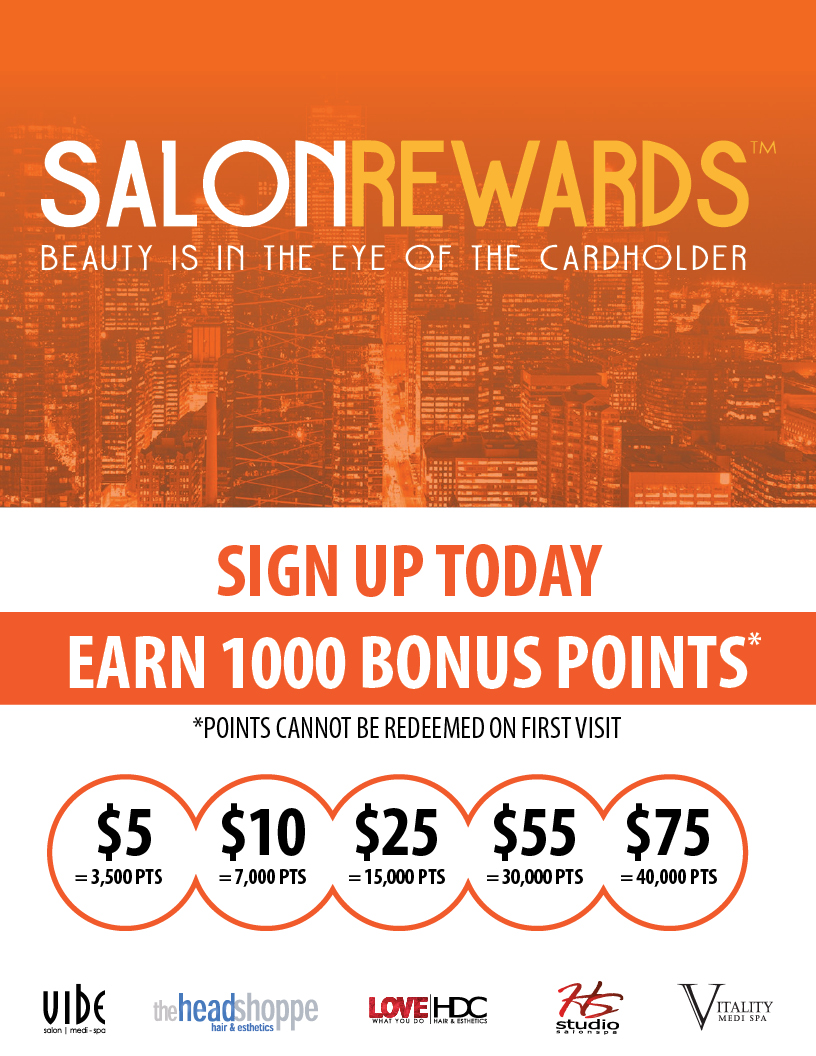 Earn 1000 Salon Rewards Bonus Points