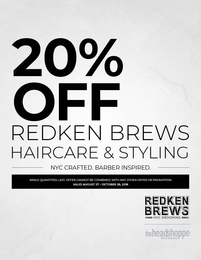 20% Off Redken Brews
