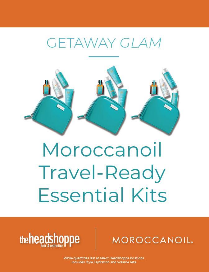 Getaway Glam:  Moroccanoil Travel-Ready Essential Kits