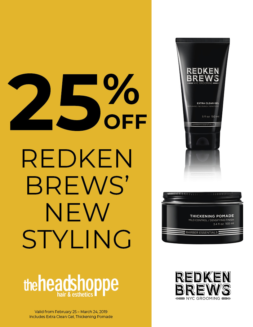 25% off Redken Brew's NEW Styling