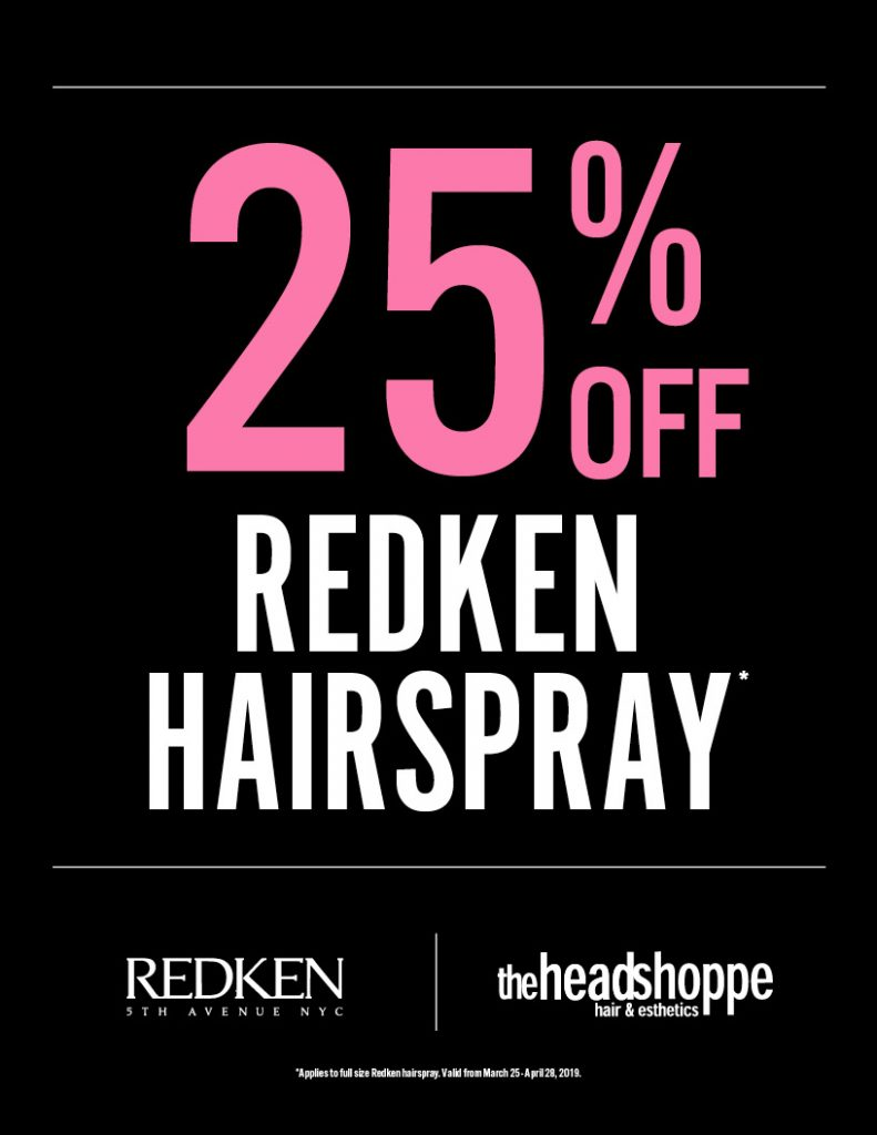 25% Off Hairspray, Hdsp, Head Shoppe