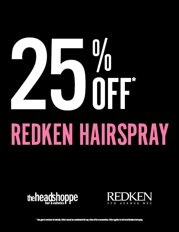 25% Off Redken Hairspray