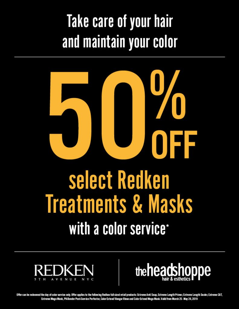50% Off Treatments & Masks, Hdsp, Head Shoppe