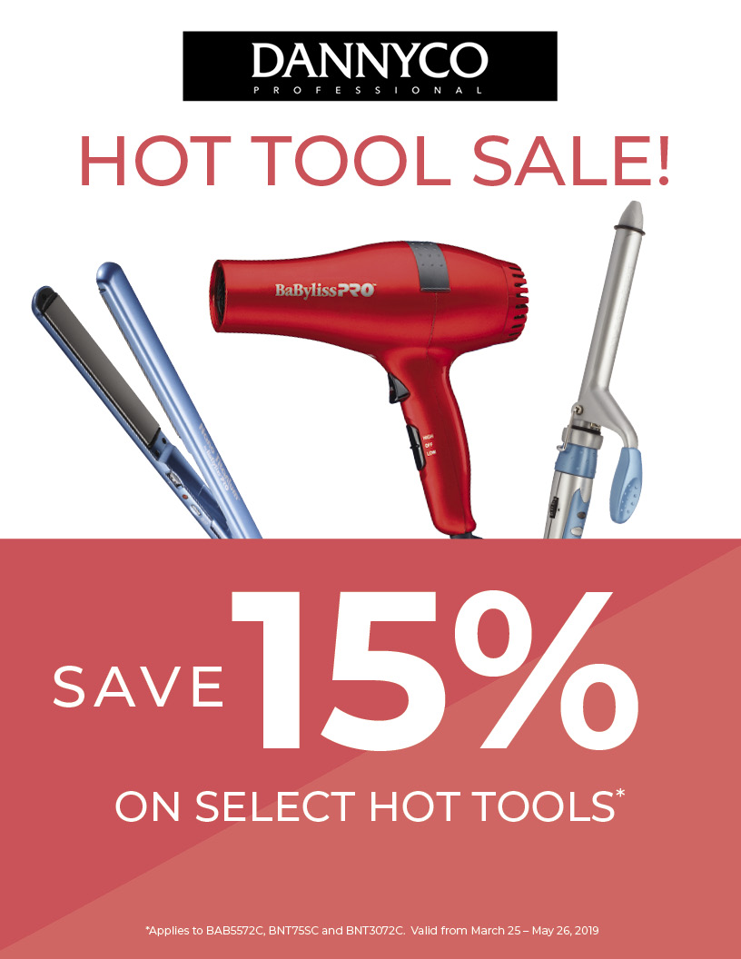 15% Off select Dannyco Hot Tools