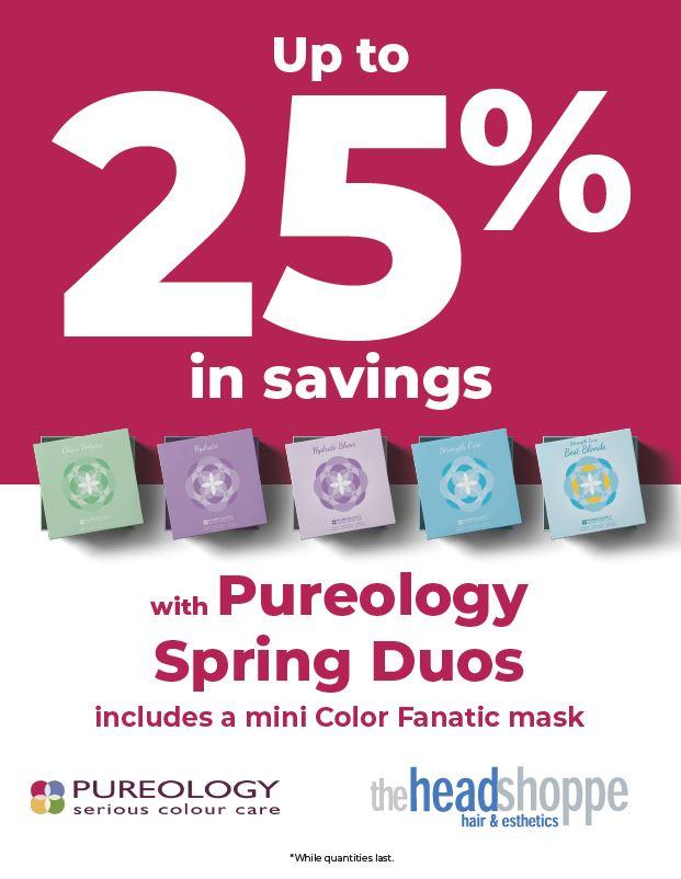 25% savings Pureology Duos, Hdsp, Head Shoppe
