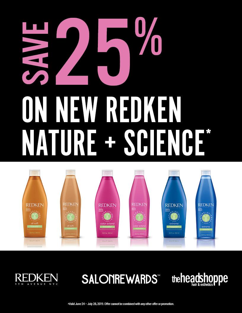 25% off Redken Nature + Science