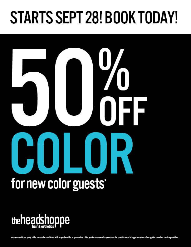 Pre-book: 50% off Color