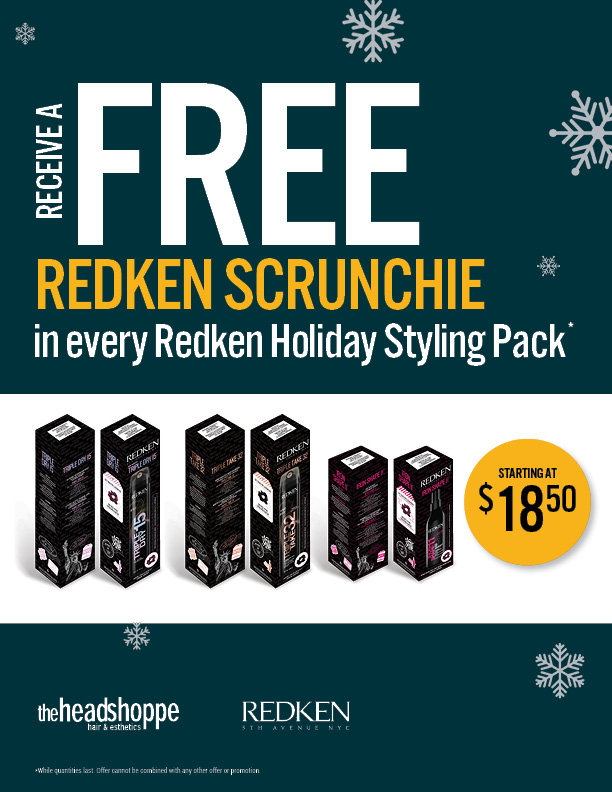 Redken Holiday Styling Packs with Scrunchie